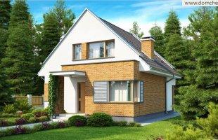 d112-malenkij-komfortabelnyj-dom-s-mansardoj-v-sovremennom-stile-s-balkonom-so-storony-sada